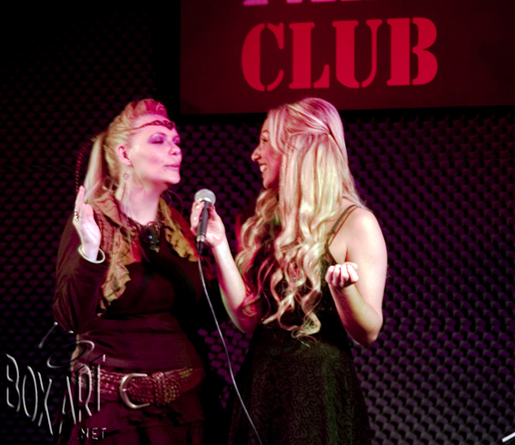 Colette and Tamsin at the Palladium Club